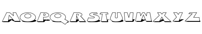 Z Dabble Down Font UPPERCASE