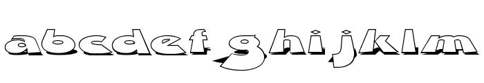 Z Dabble Down Font LOWERCASE