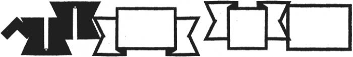 ZAPORAdings Regular otf (400) Font UPPERCASE