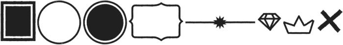 ZAPORAdings Regular otf (400) Font LOWERCASE