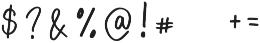 Zabar Regular otf (400) Font OTHER CHARS