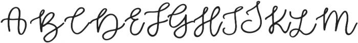 Zabar Regular otf (400) Font UPPERCASE
