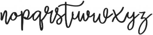 Zabar Regular otf (400) Font LOWERCASE