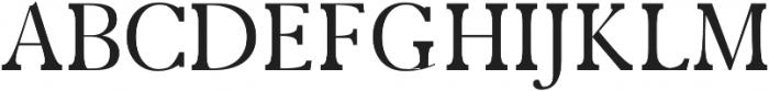 Zack Regular otf (400) Font UPPERCASE