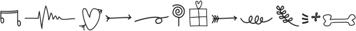 Zahira Doodles Regular otf (400) Font LOWERCASE