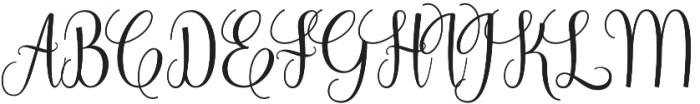 Zakia Regular otf (400) Font UPPERCASE