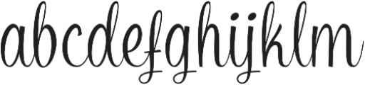 Zakia Regular otf (400) Font LOWERCASE