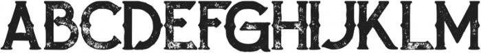Zalora Bold Grunge otf (700) Font UPPERCASE