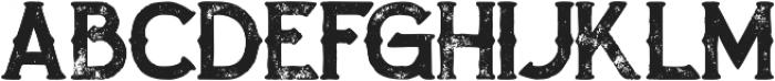 Zalora Bold Grunge otf (700) Font LOWERCASE