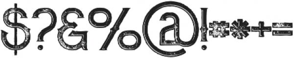 Zalora Inline Grunge otf (400) Font OTHER CHARS
