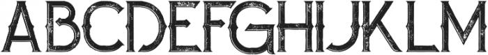 Zalora Inline Grunge otf (400) Font UPPERCASE
