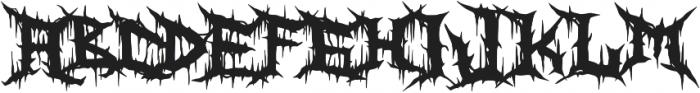 Zanaz ttf (400) Font UPPERCASE