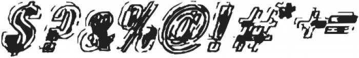 Zapped otf (400) Font OTHER CHARS