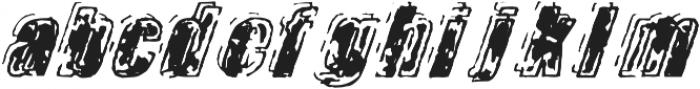 Zapped otf (400) Font LOWERCASE