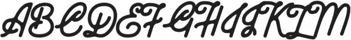 Zara Elyse Super Texture Bold otf (700) Font UPPERCASE