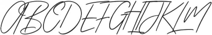 Zattoya Signature otf (400) Font UPPERCASE