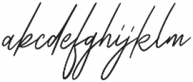 Zattoya Signature otf (400) Font LOWERCASE