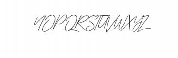 Zattoya.ttf Font UPPERCASE