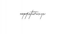 Zattoya.ttf Font LOWERCASE