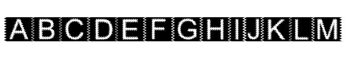 Zacken Normal Font UPPERCASE