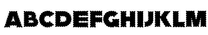 ZagzagGoosePimples Font UPPERCASE