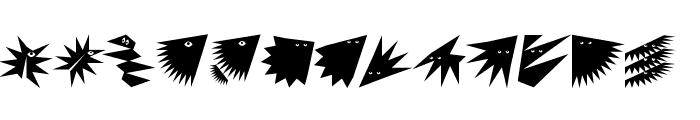 ZagzagHeads Font LOWERCASE