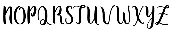 Zaheera - Demo Regular Font UPPERCASE