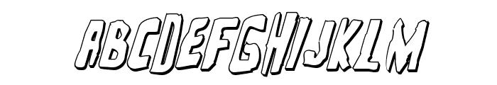 Zakenstein 3D Italic Font UPPERCASE