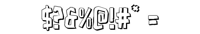 Zakenstein 3D Regular Font OTHER CHARS