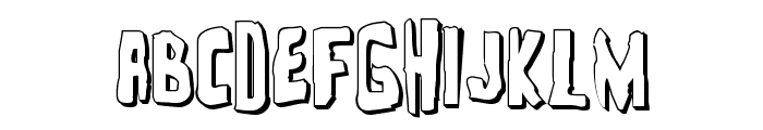 Zakenstein 3D Regular Font UPPERCASE