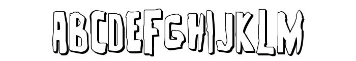 Zakenstein 3D Regular Font LOWERCASE