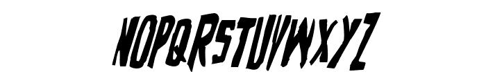 Zakenstein Condensed Italic Font UPPERCASE