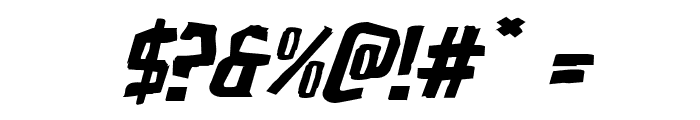 Zakenstein Expanded Italic Font OTHER CHARS