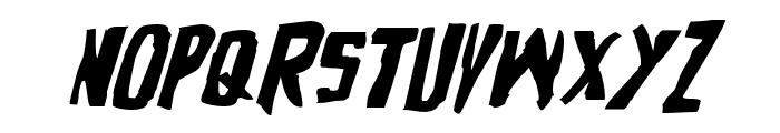 Zakenstein Expanded Italic Font UPPERCASE