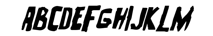 Zakenstein Expanded Italic Font LOWERCASE