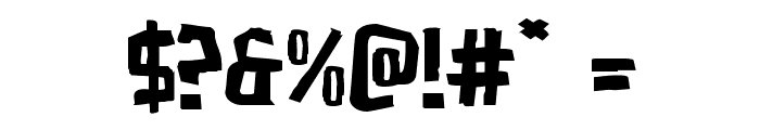 Zakenstein Expanded Font OTHER CHARS
