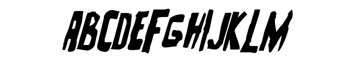 Zakenstein Italic Font LOWERCASE