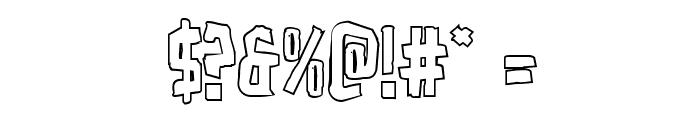 Zakenstein Outline Regular Font OTHER CHARS