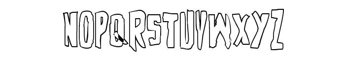 Zakenstein Outline Regular Font UPPERCASE
