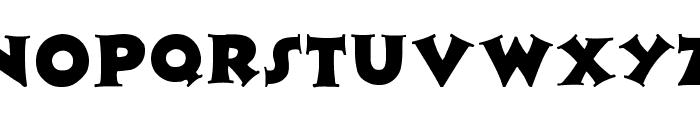 Zaleski Font UPPERCASE