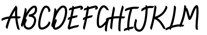 Zallia Free Font UPPERCASE