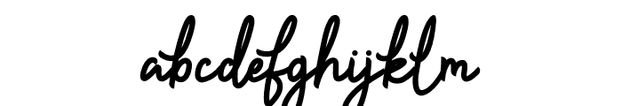 Zallia Free Font LOWERCASE