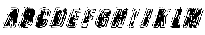 Zapped Trial Version Font UPPERCASE