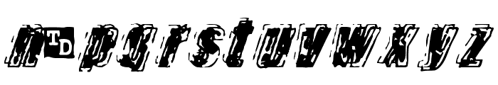 Zapped Trial Version Font LOWERCASE