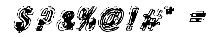 Zapped Font OTHER CHARS