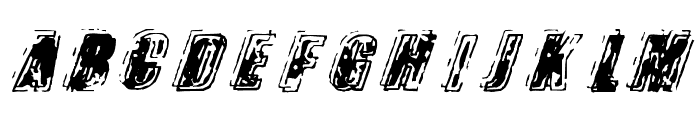 Zapped Font UPPERCASE