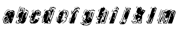 Zapped Font LOWERCASE