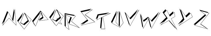 Zapper Font UPPERCASE