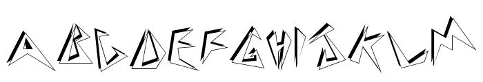 Zapper Font LOWERCASE