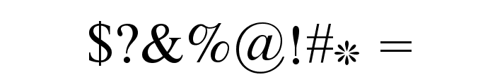 Zarnegaar Font OTHER CHARS